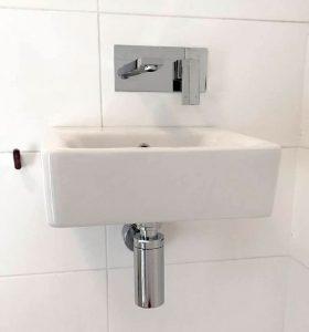 vanity install leaking tap